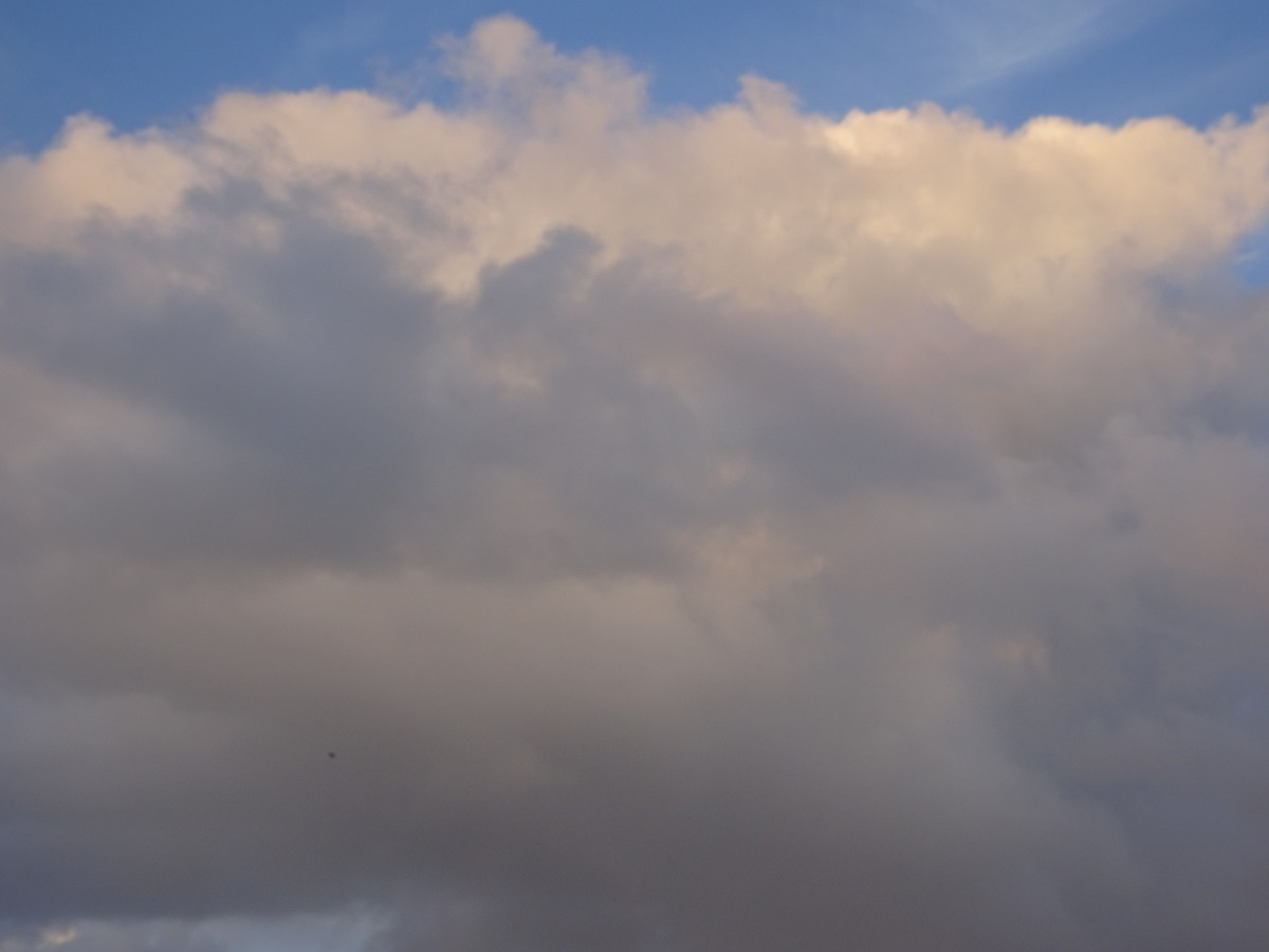 Blue sky and cotton-like clouds
