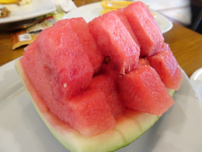 Watermelon and papaya