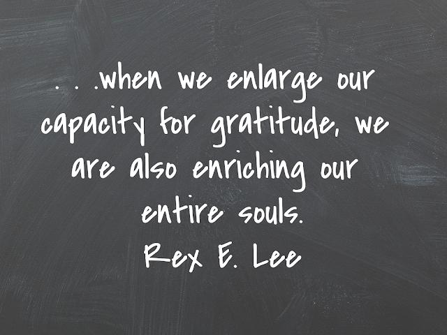 capacity for gratitude