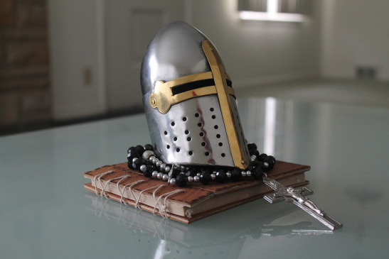 Warrior Knight Cross Silver Medieval