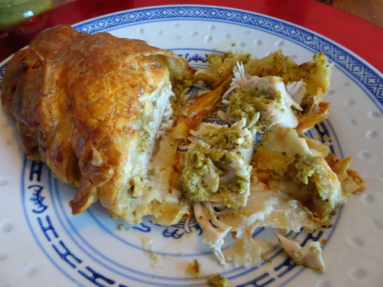 Ladylee Manila Blog's photo of Chicken with pesto sauce pie